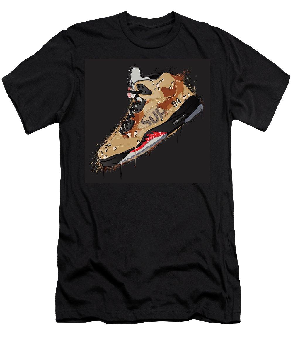 7da1d9180b5c9d Vector Men s T-Shirt (Athletic Fit) featuring the digital art Air Jordan 5