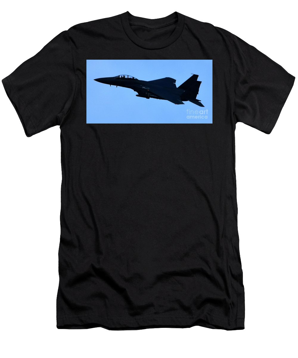 Jets Men's T-Shirt (Athletic Fit) featuring the photograph Airplane Jet by Hughes Country Roads Photography