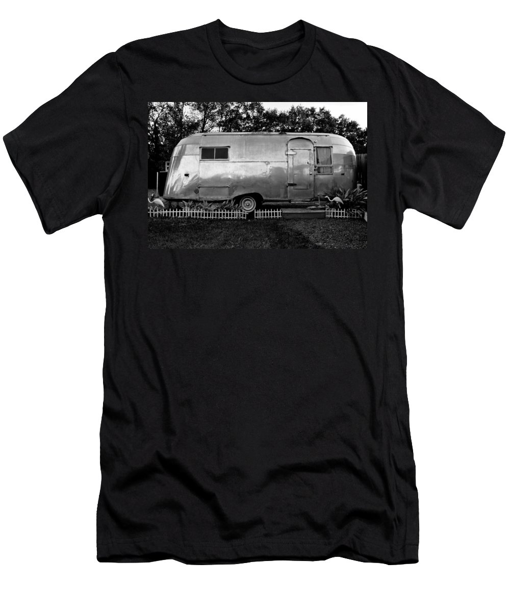 Fine Art Photography Men's T-Shirt (Athletic Fit) featuring the photograph Airstream Life by David Lee Thompson