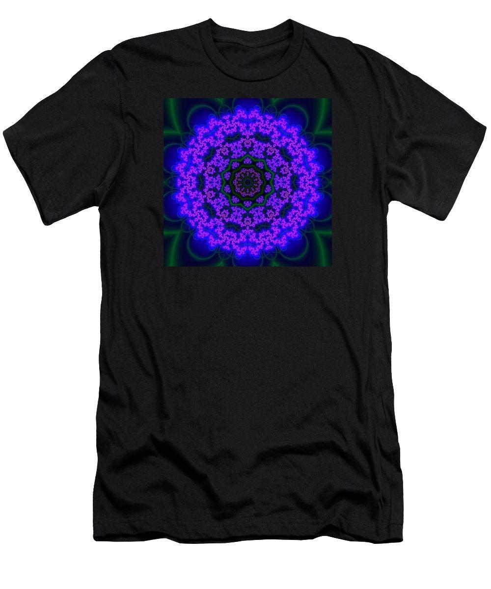 Mandala Men's T-Shirt (Athletic Fit) featuring the digital art Akbal 9 .4 by Robert Thalmeier
