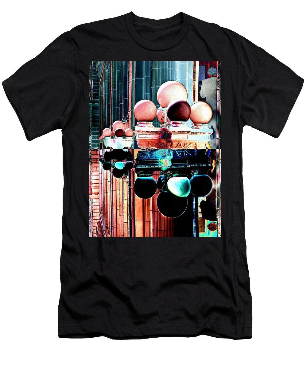 Seattle Men's T-Shirt (Athletic Fit) featuring the photograph Alaska Building Lights by Tim Allen