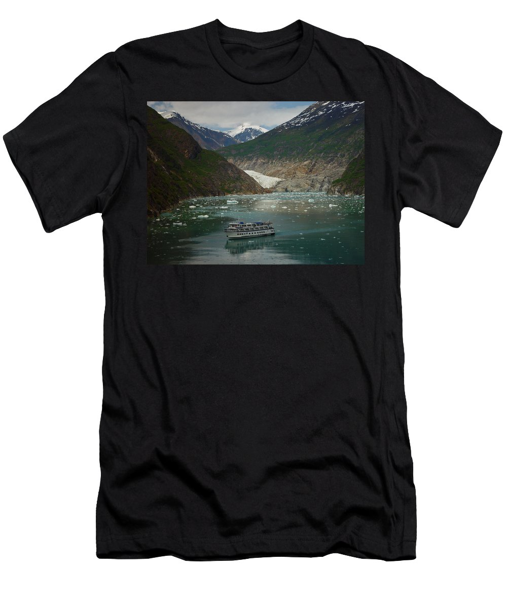 Alaska Men's T-Shirt (Athletic Fit) featuring the photograph Alaska Endicott Glacier by Heather Coen