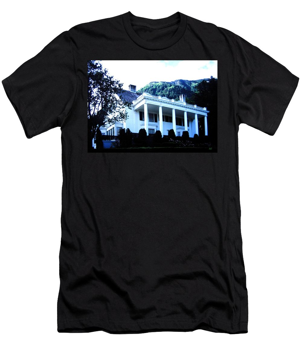 Alaska Men's T-Shirt (Athletic Fit) featuring the photograph Alaska Governors Mansion by Will Borden