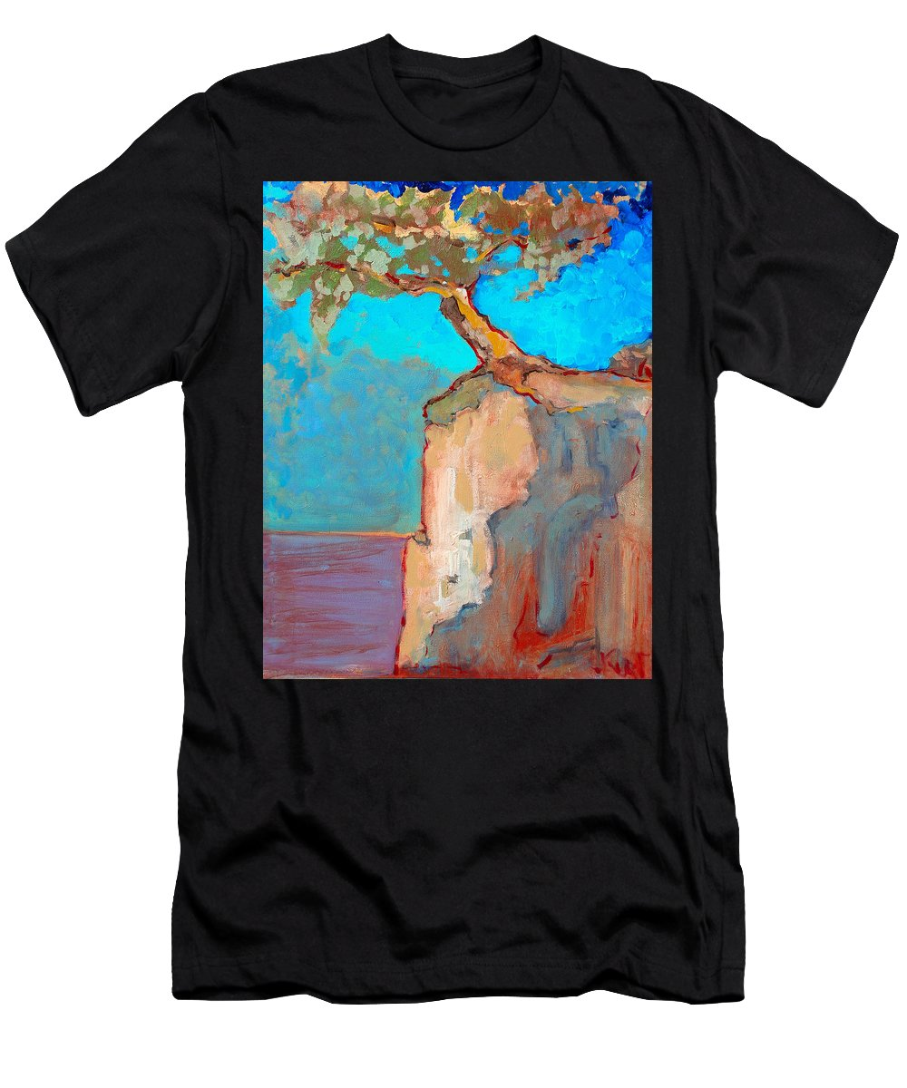 Tree Men's T-Shirt (Athletic Fit) featuring the painting Albero by Kurt Hausmann