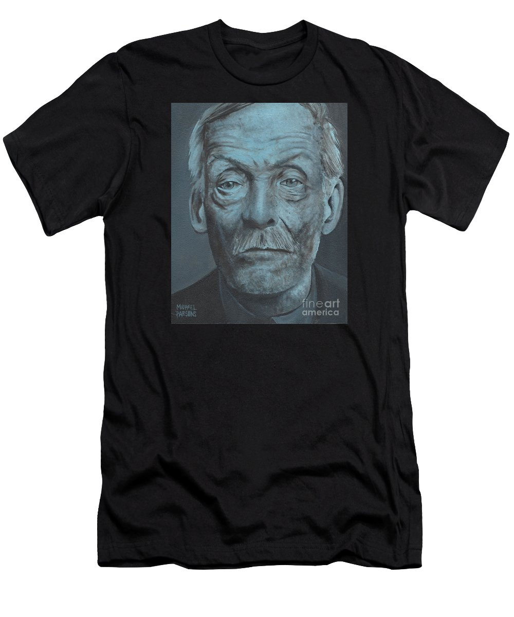 Albert Fish Men's T-Shirt (Athletic Fit) featuring the painting Albert Fish by Michael Parsons