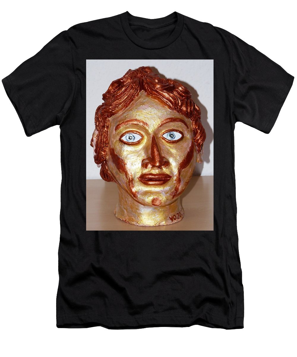 Alexander Men's T-Shirt (Athletic Fit) featuring the sculpture Alexander The Great by Valerie Ornstein