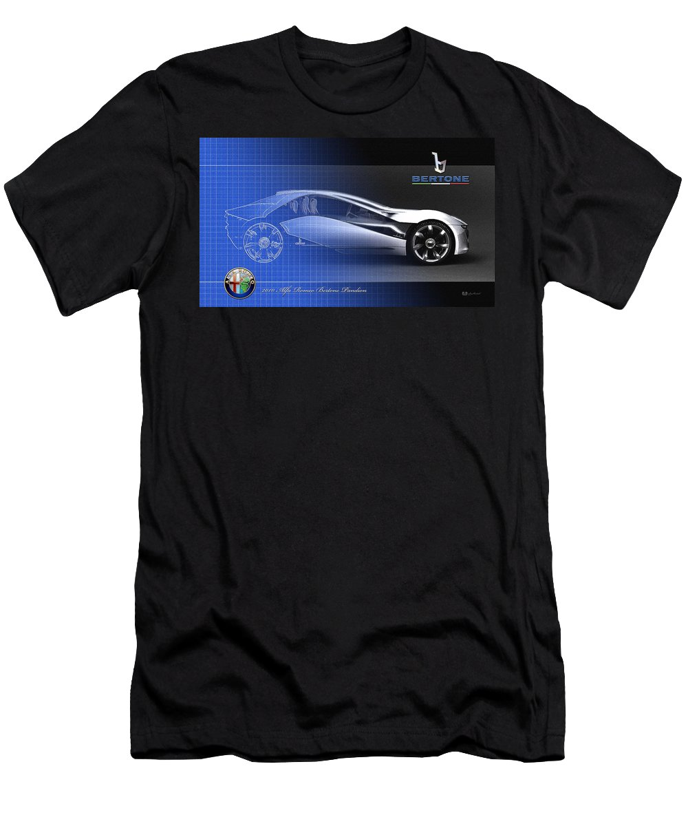 Wheels Of Fortune By Serge Averbukh T-Shirt featuring the photograph Alfa Romeo Bertone Pandion Concept by Serge Averbukh
