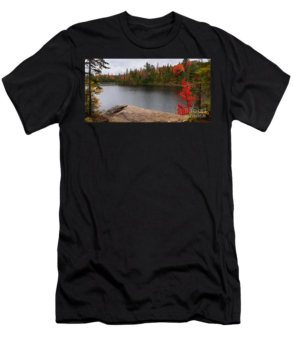 Lake Men's T-Shirt (Athletic Fit) featuring the photograph Algonquin Provincial Park Ontario by Oleksiy Maksymenko