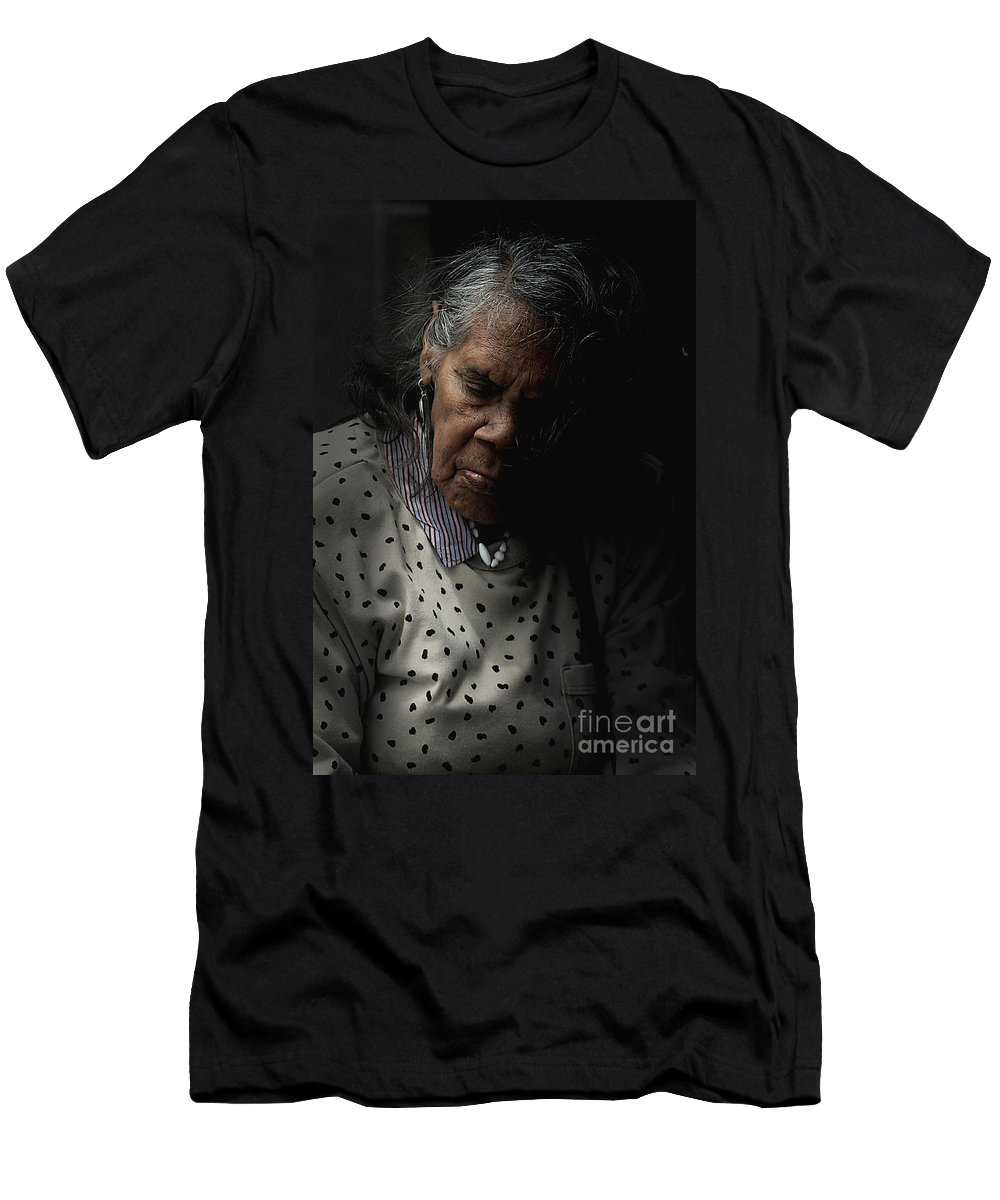 Portrait Men's T-Shirt (Athletic Fit) featuring the photograph Alice by Sheila Smart Fine Art Photography