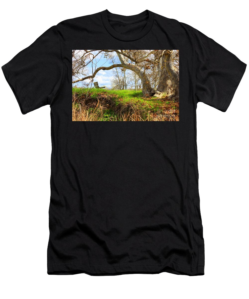 Spring Landscape Men's T-Shirt (Athletic Fit) featuring the photograph Alice's Wonderland by Carol Groenen