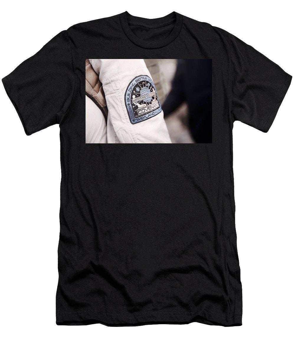 Alien Covenant Men's T-Shirt (Athletic Fit) featuring the digital art Alien Covenant by Super Lovely