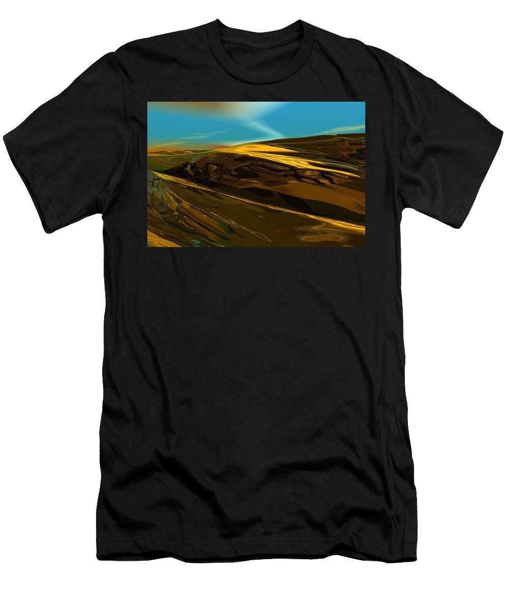 Landscape Men's T-Shirt (Athletic Fit) featuring the digital art Alien Landscape 2-28-09 by David Lane