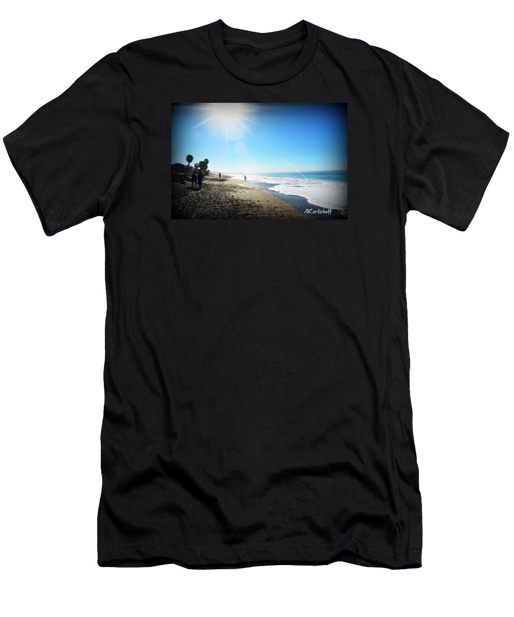 Men's T-Shirt (Athletic Fit) featuring the photograph Aliso Viejo Beach by Anatole Kortscheff