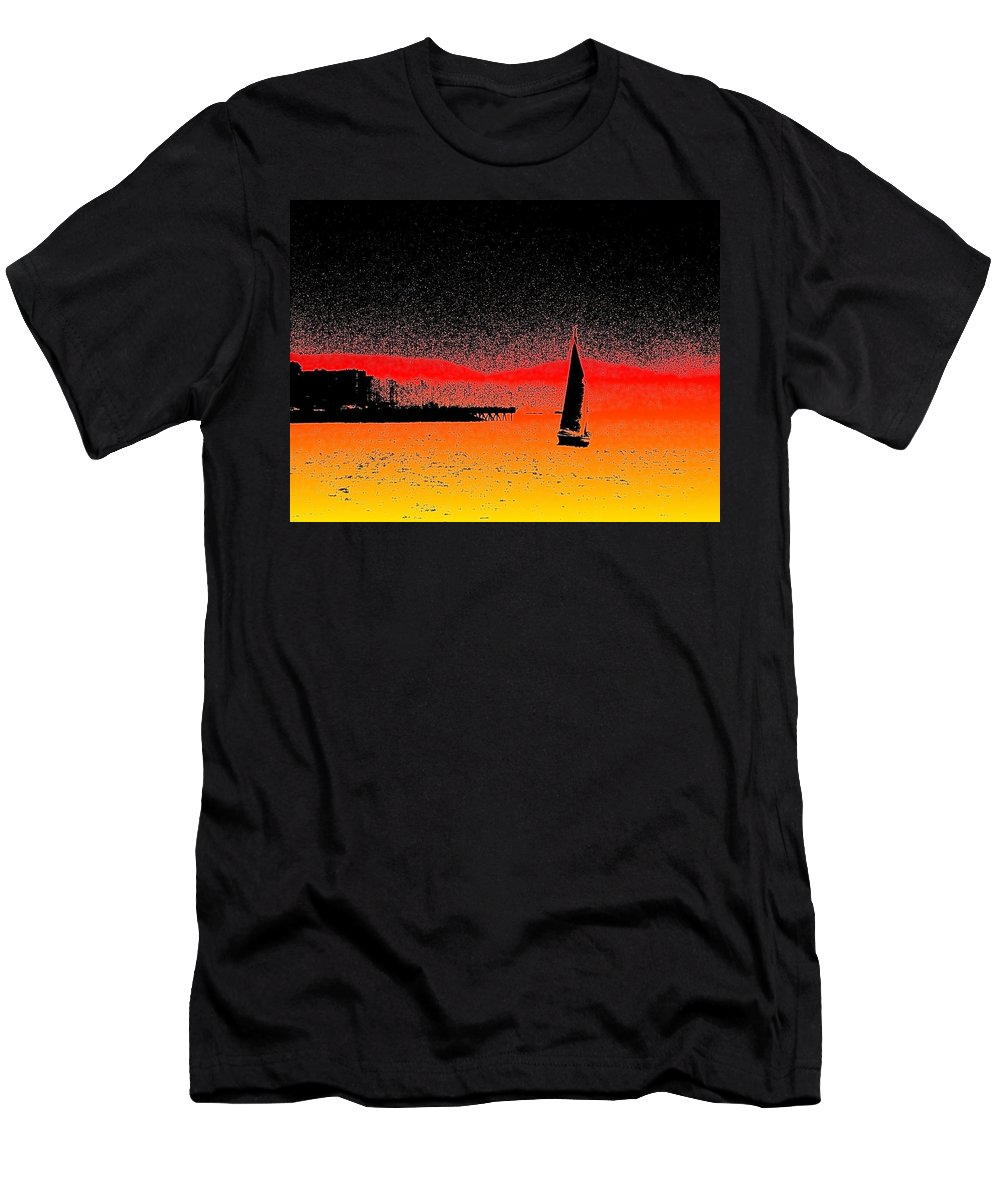 Seattle Men's T-Shirt (Athletic Fit) featuring the photograph Alki Sail by Tim Allen