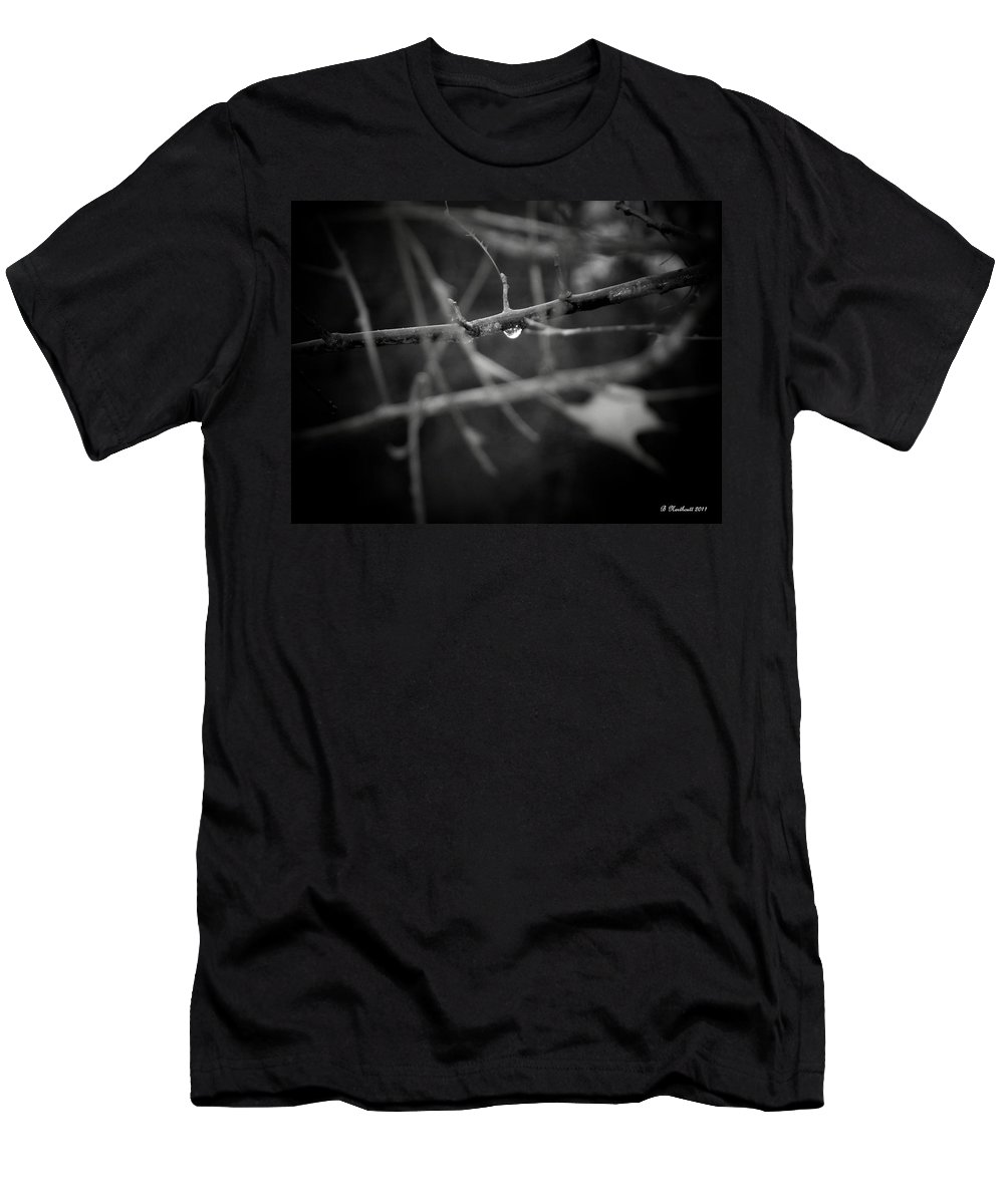 Rain Men's T-Shirt (Athletic Fit) featuring the photograph All Alone by Betty Northcutt
