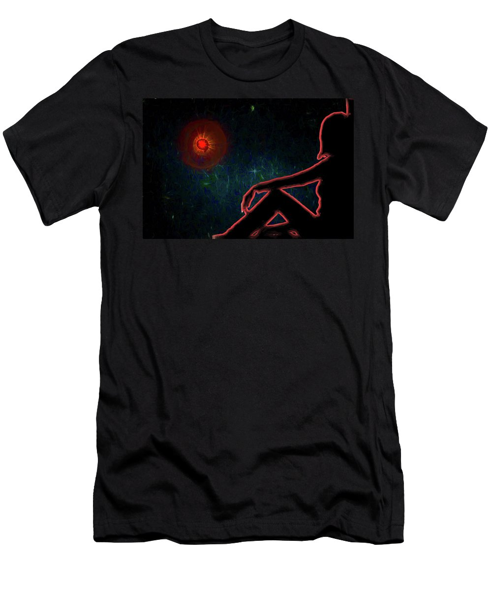 Sci Fi Men's T-Shirt (Athletic Fit) featuring the digital art All Our Tomorrows by John Haldane