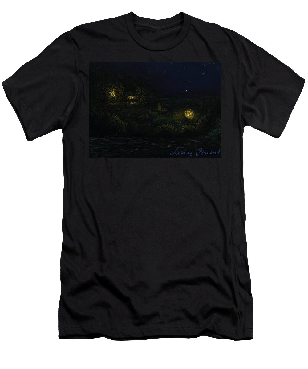 Men's T-Shirt (Athletic Fit) featuring the painting All Right Nancy Box by Anna Pszonka