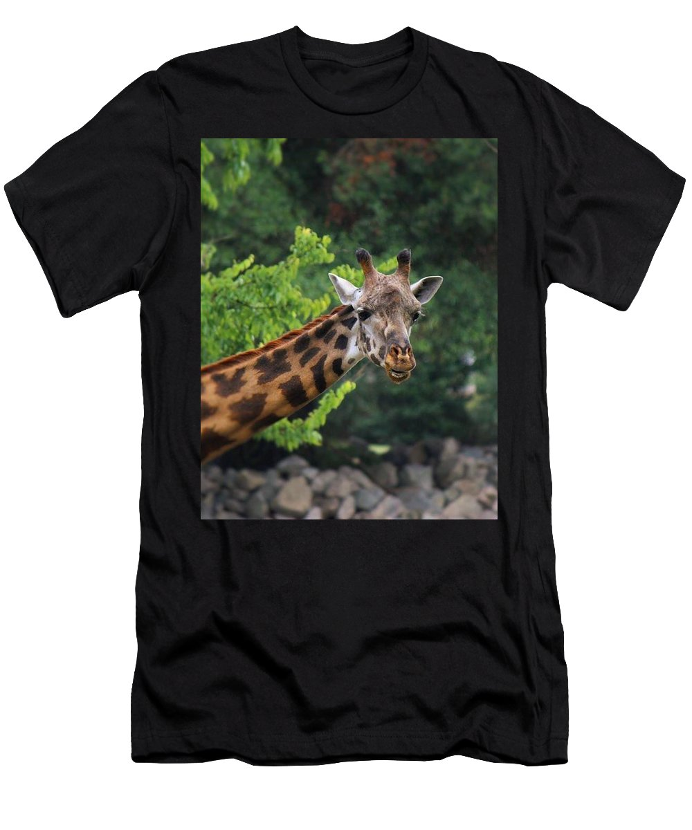 Animal Men's T-Shirt (Athletic Fit) featuring the photograph All Smiles by Teresa Self