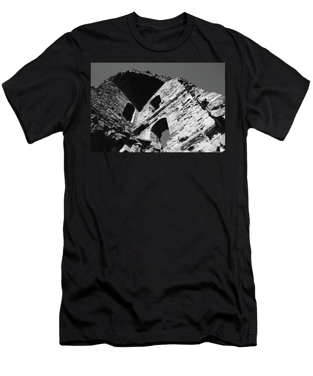 Tower Men's T-Shirt (Athletic Fit) featuring the photograph All That Remains by Hannah Goddard-Stuart