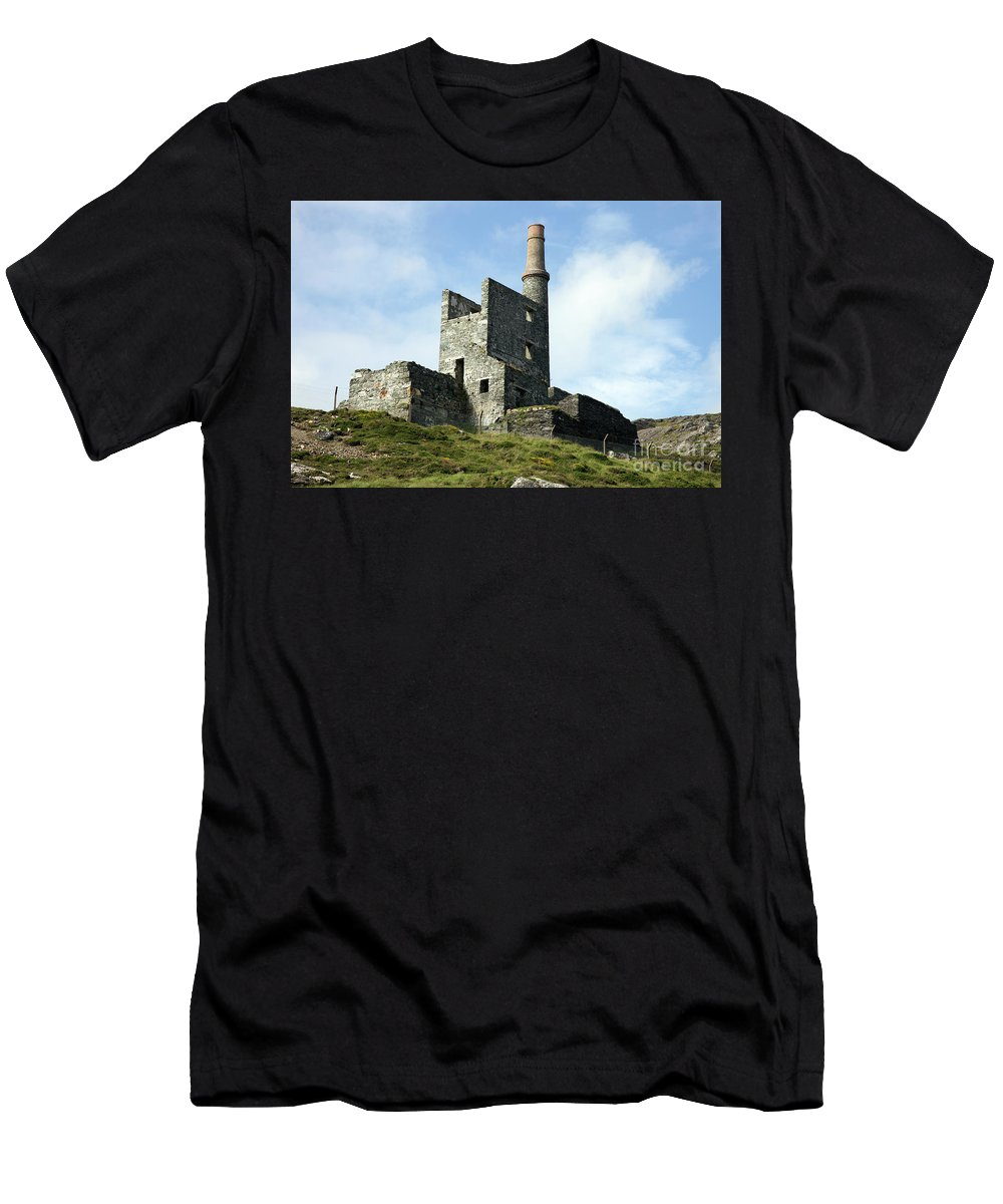 West Cork Men's T-Shirt (Athletic Fit) featuring the photograph Allihies Copper Mine West Cork by Ros Drinkwater