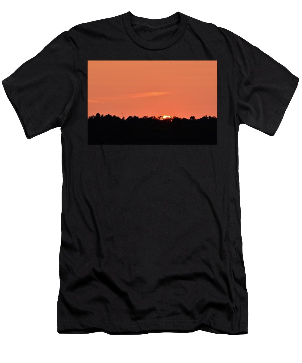 Abstract Men's T-Shirt (Athletic Fit) featuring the photograph Almost Below The Horizon by Lyle Crump