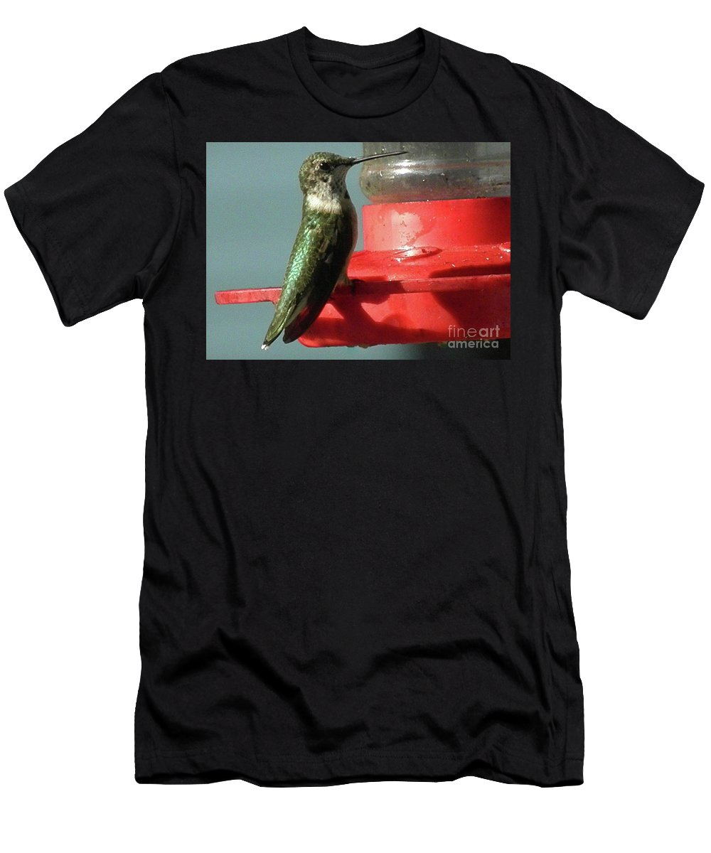 Almost Time To Fly To South America Men's T-Shirt (Athletic Fit) featuring the photograph Almost Time To Fly To South America by Earl Williams Jr