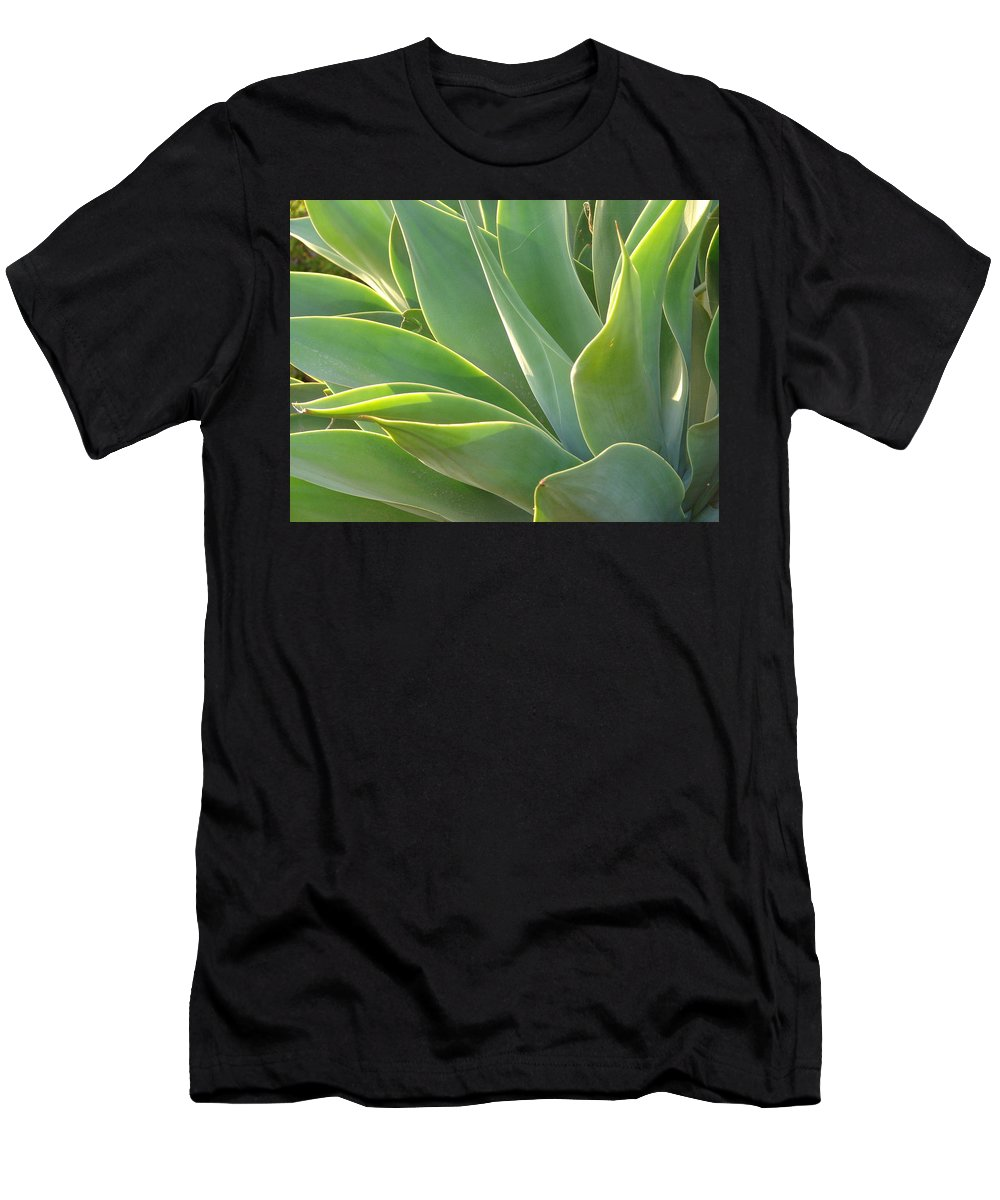 Abstract Art Men's T-Shirt (Athletic Fit) featuring the photograph Aloe by Lois Boyce