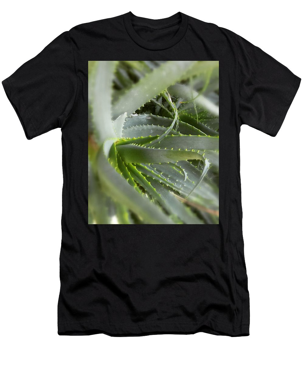 Aloevera Vera Men's T-Shirt (Athletic Fit) featuring the painting Aloe Vera by Sam Alberts