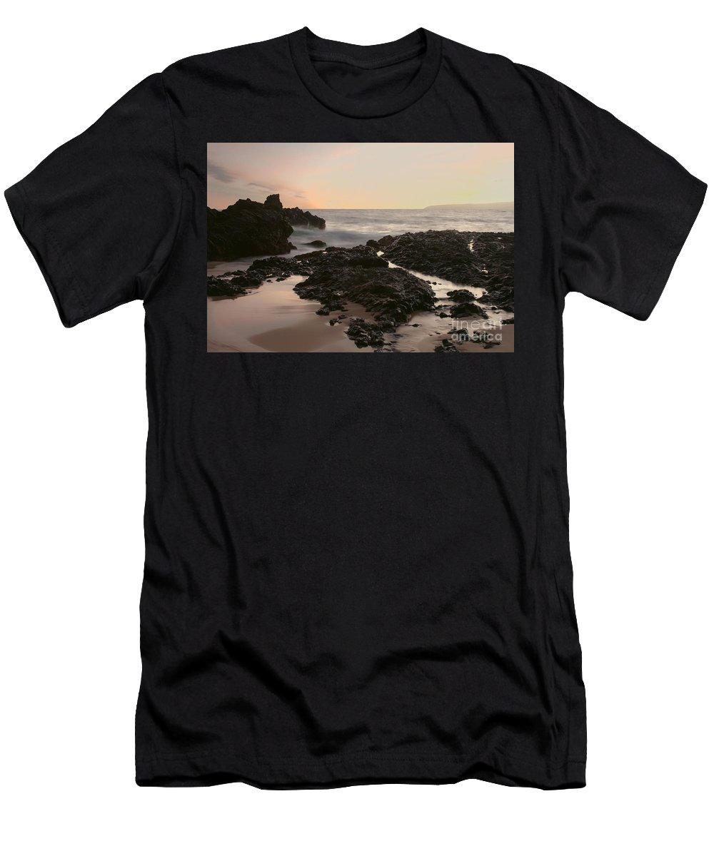 Aloha Men's T-Shirt (Athletic Fit) featuring the photograph Aloha Paako Akahi Sunset Makena Maui Hawaii by Sharon Mau