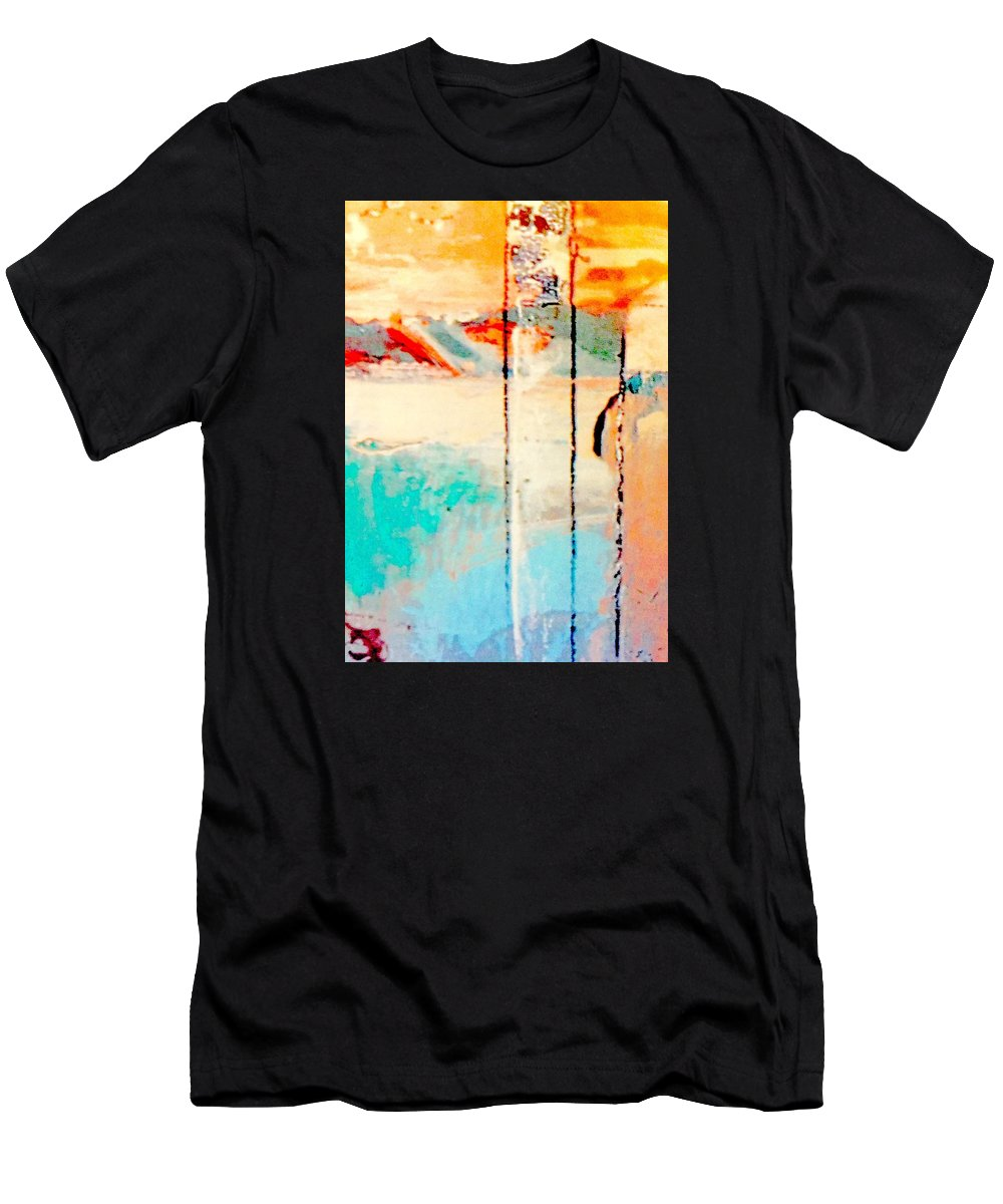 Guitar Men's T-Shirt (Athletic Fit) featuring the mixed media Alone Together by Bill Solley