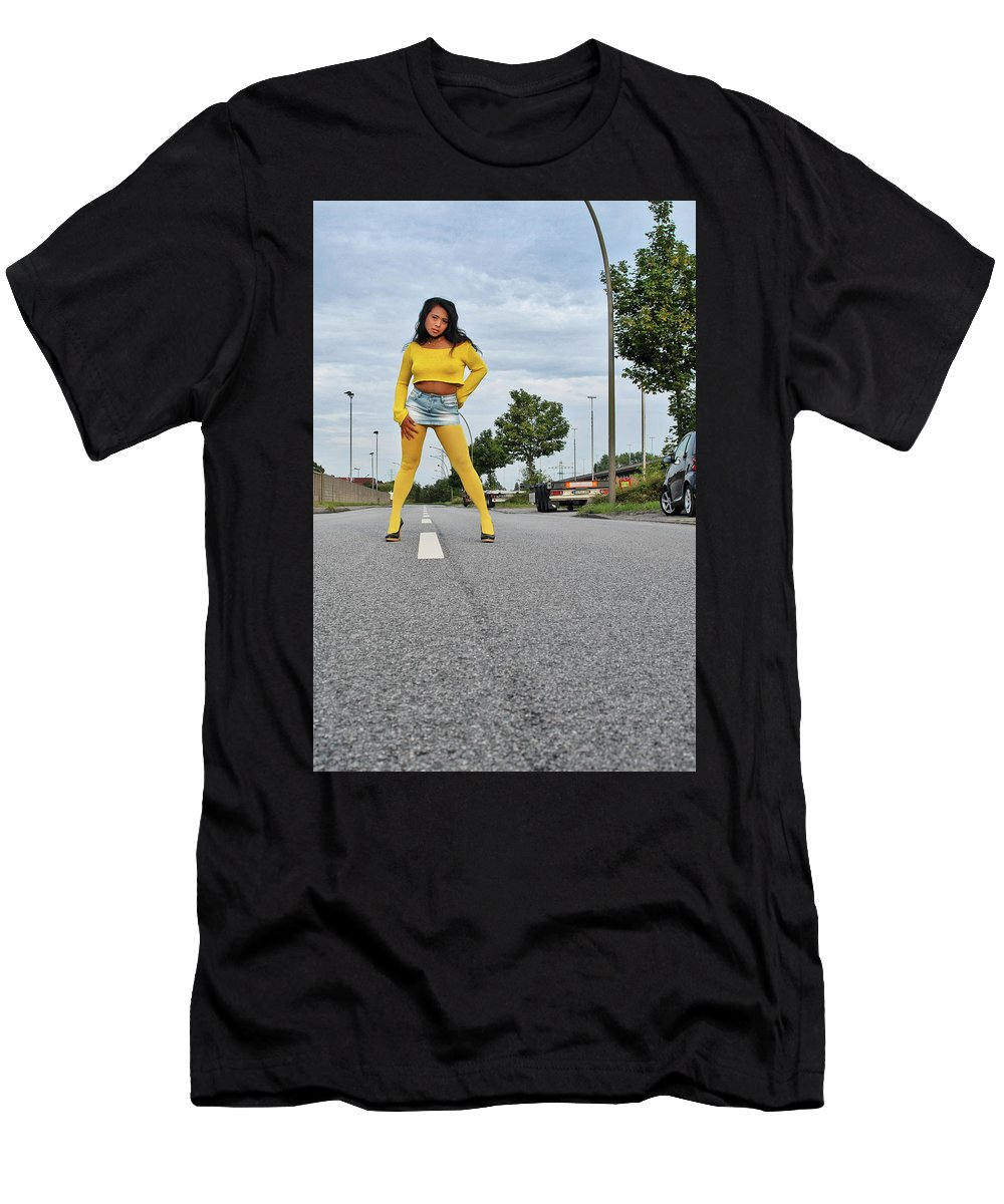 Asian Men's T-Shirt (Athletic Fit) featuring the photograph Along The Road by Ralf Kretschmer