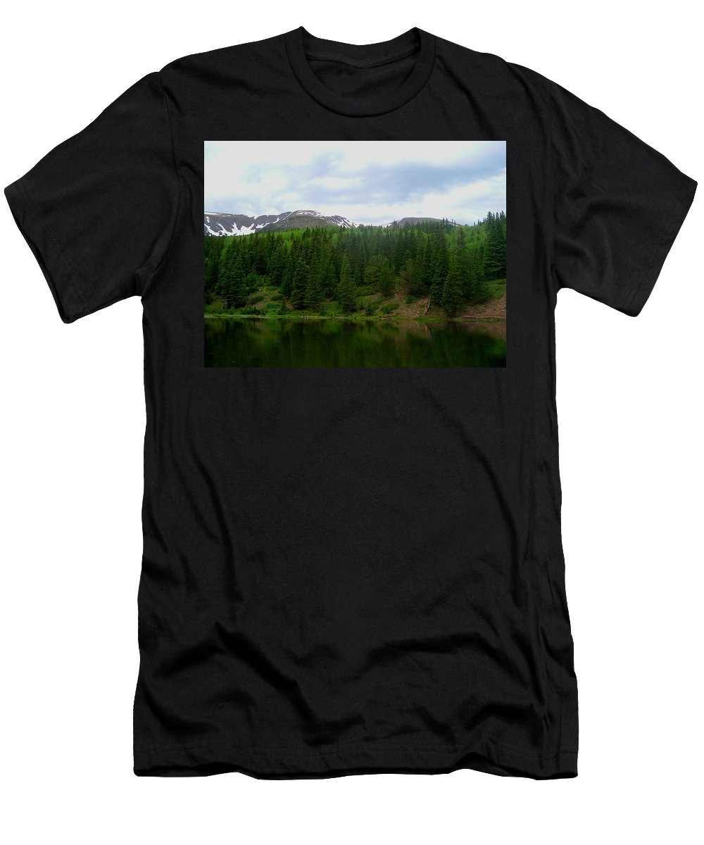 Alpine Lake Images Alpine Lake Prints Alpine Lake Pics Alpine Lake Photos Colorado Lake Images Mountain Lake Prints Nature Conservation Wilderness Preservation Great Outdoors Hiking Colorado Landscape Images Men's T-Shirt (Athletic Fit) featuring the photograph Alpine Lake by Joshua Bales