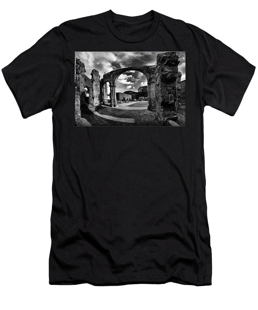 Altagracia De Orituco Men's T-Shirt (Athletic Fit) featuring the photograph Altagracia - Ruinas by Galeria Trompiz