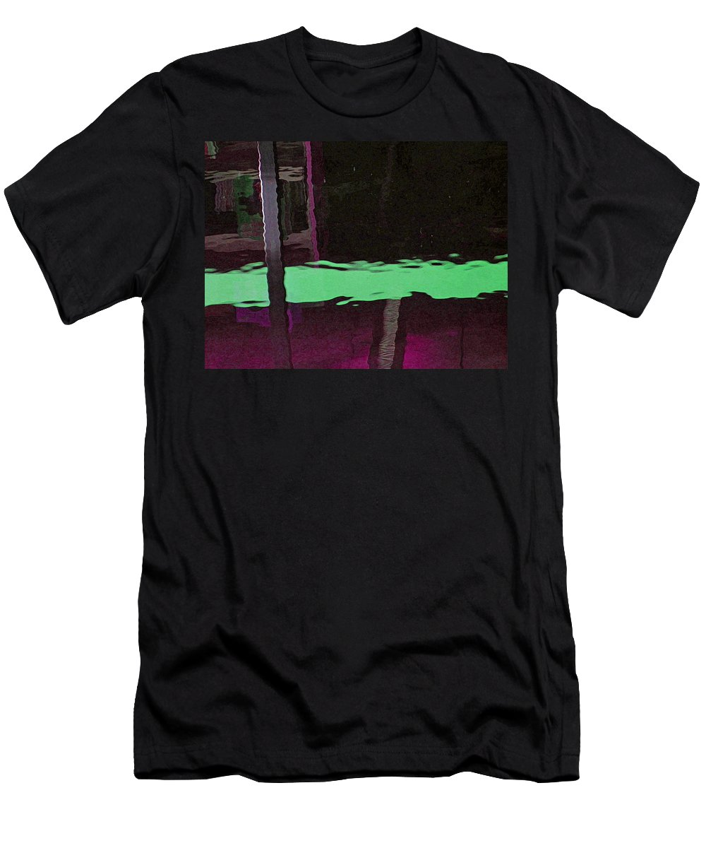 Abstract Men's T-Shirt (Athletic Fit) featuring the digital art Alternate Reality 14-2 by Lenore Senior
