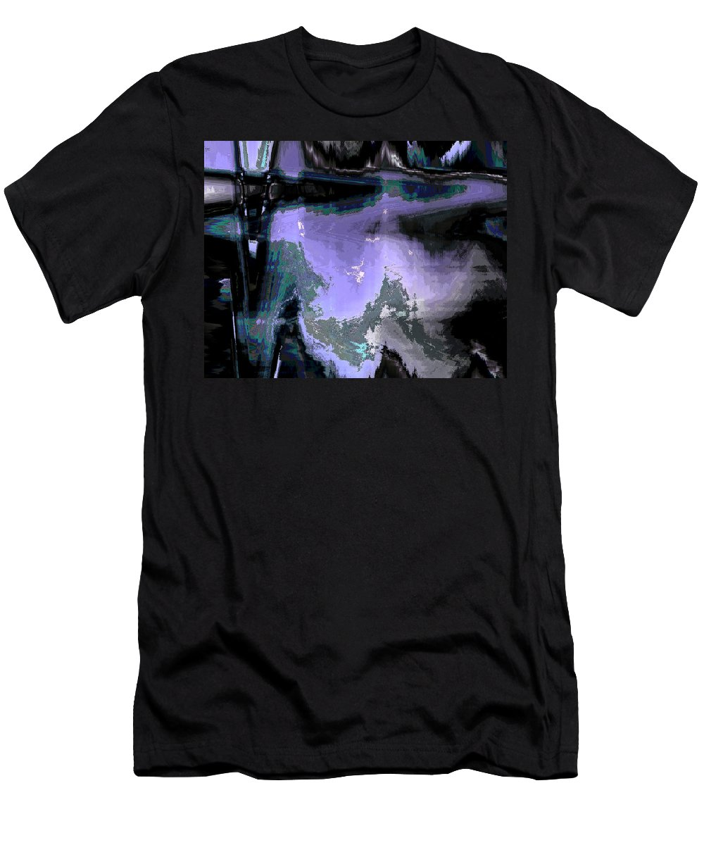 Abstract Men's T-Shirt (Athletic Fit) featuring the digital art Always Feminine Mystique by Lenore Senior