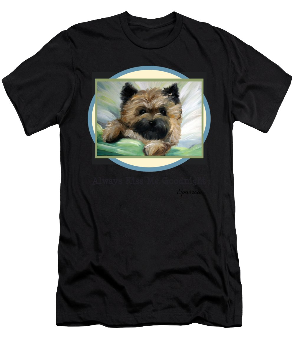 Always Kiss Me Men's T-Shirt (Athletic Fit) featuring the painting Always Kiss Me Goodnight by Mary Sparrow