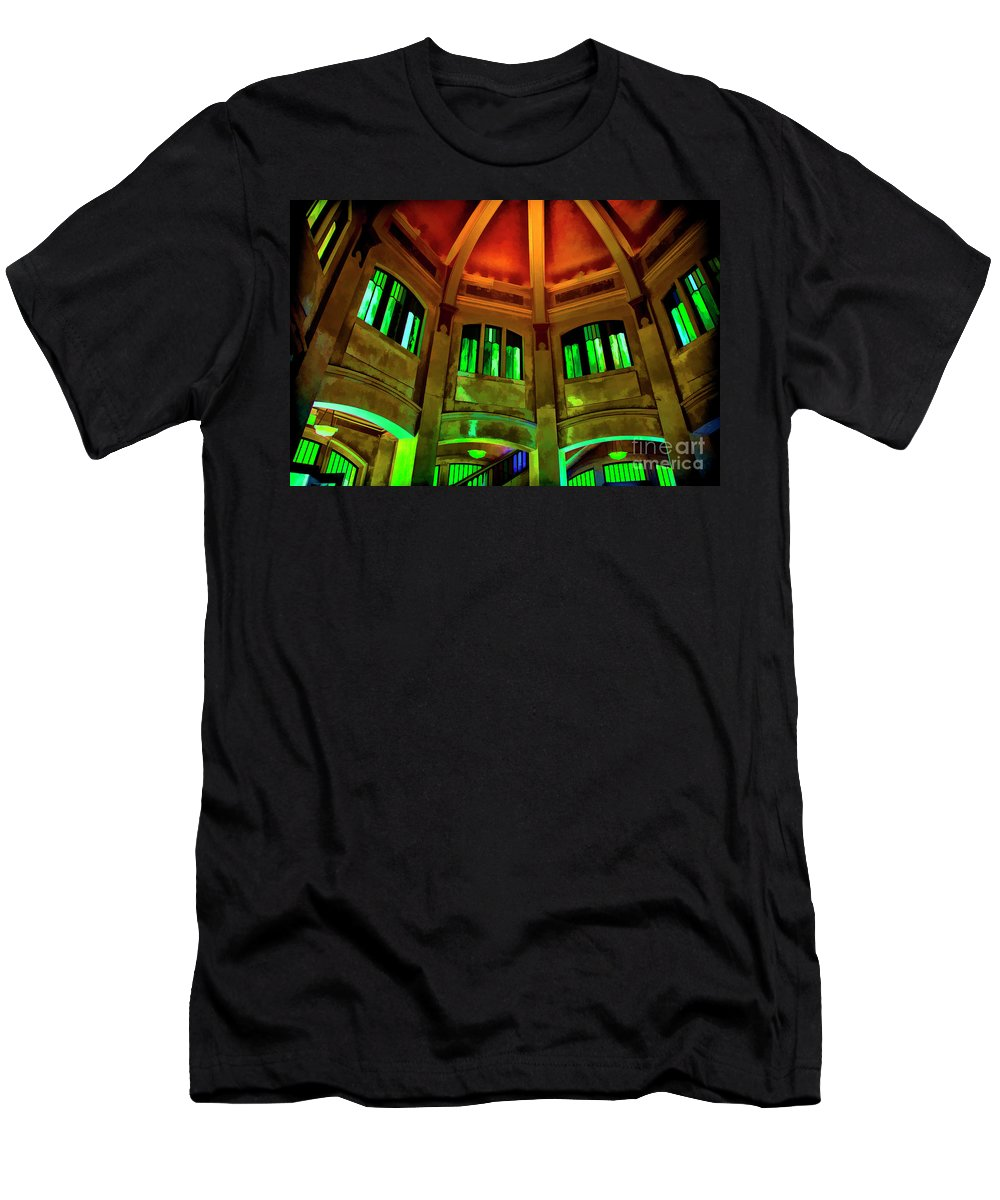 Interiors Old Structures Men's T-Shirt (Athletic Fit) featuring the photograph Amazing Dome by Rick Bragan