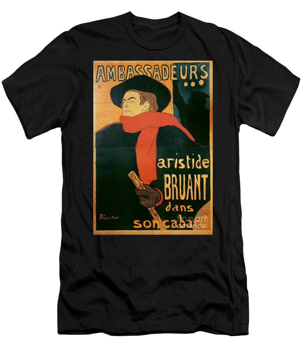 Henri De Toulouse-lautrec Men's T-Shirt (Athletic Fit) featuring the painting Ambassadeurs by Henri de Toulouse-Lautrec