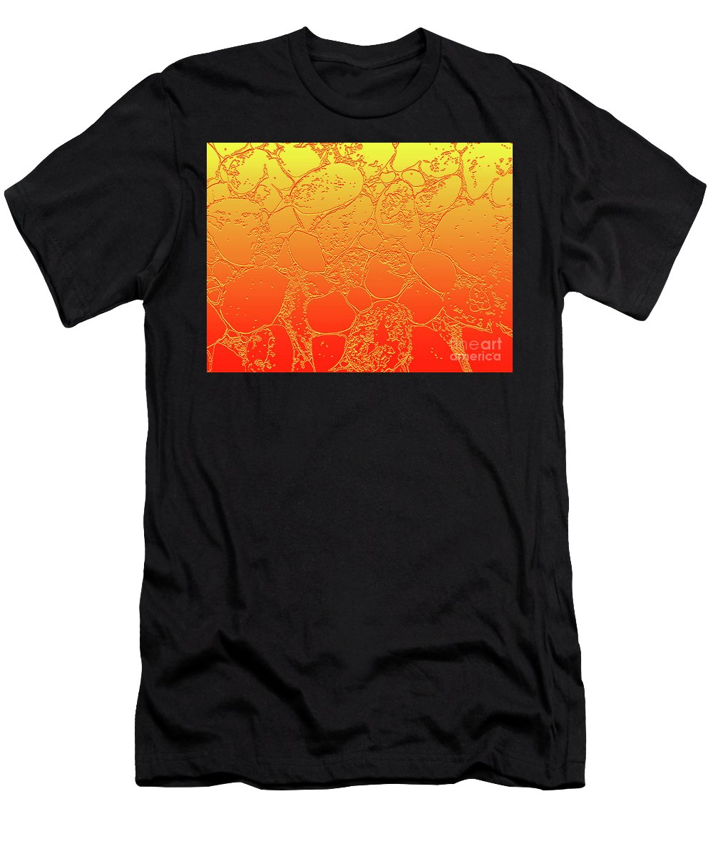 Amber Men's T-Shirt (Athletic Fit) featuring the photograph Amber Crackle by Catchavista