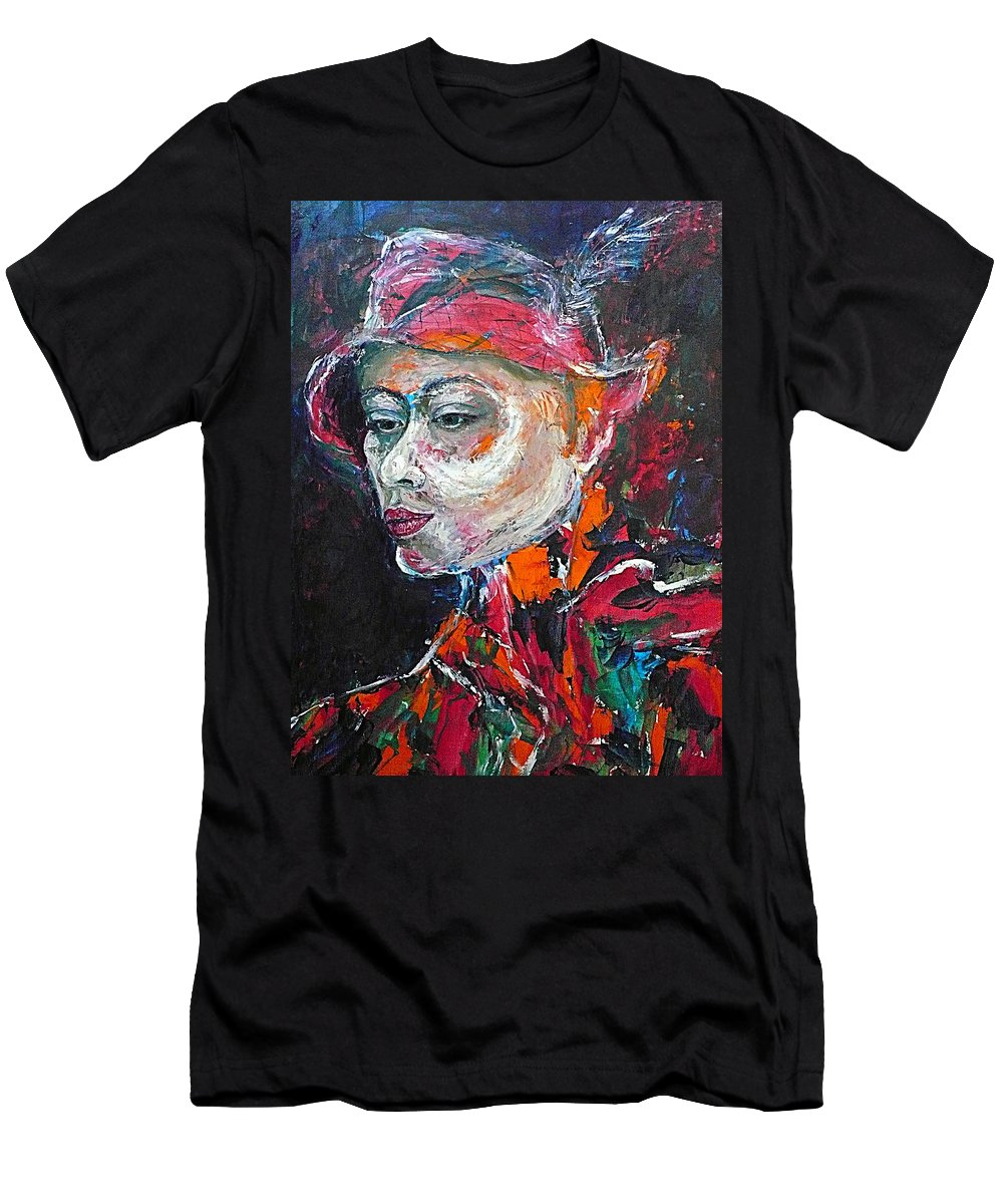 Portrait Men's T-Shirt (Athletic Fit) featuring the painting Ambiguity by Ericka Herazo