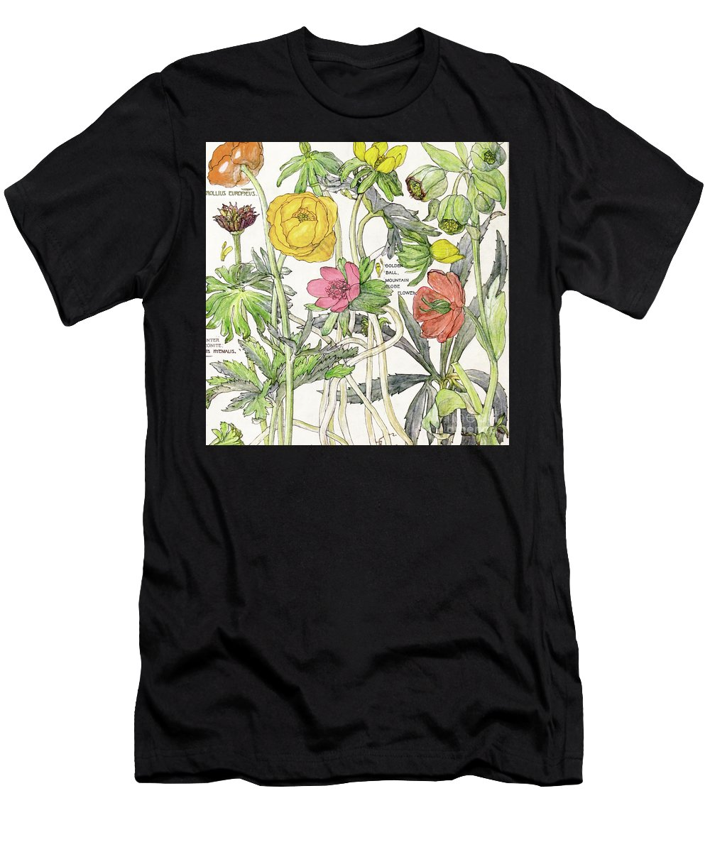 Flowers Men's T-Shirt (Athletic Fit) featuring the painting Ambrosia Vi by Mindy Sommers
