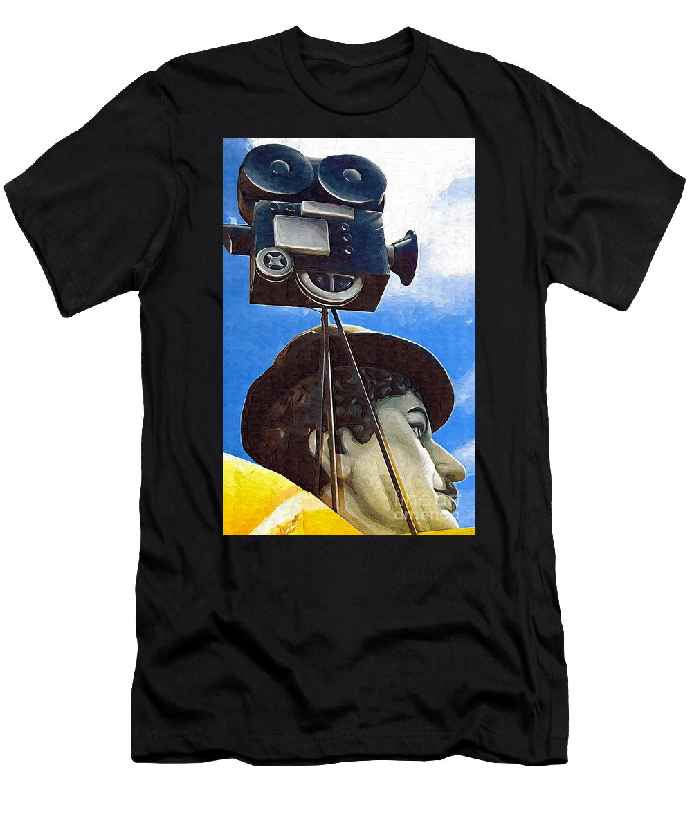 Camera Men's T-Shirt (Athletic Fit) featuring the photograph American Cinema by Kathleen K Parker
