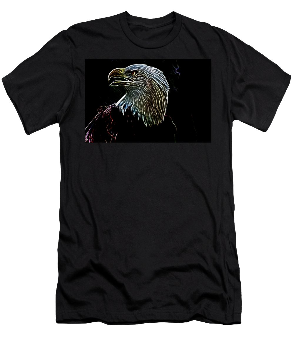 American Men's T-Shirt (Athletic Fit) featuring the photograph American Eagle by Douglas Barnard