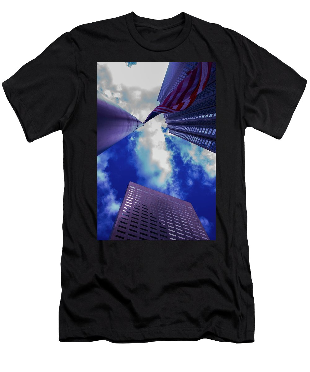 Flag Men's T-Shirt (Athletic Fit) featuring the photograph American Flag by Joey Rey