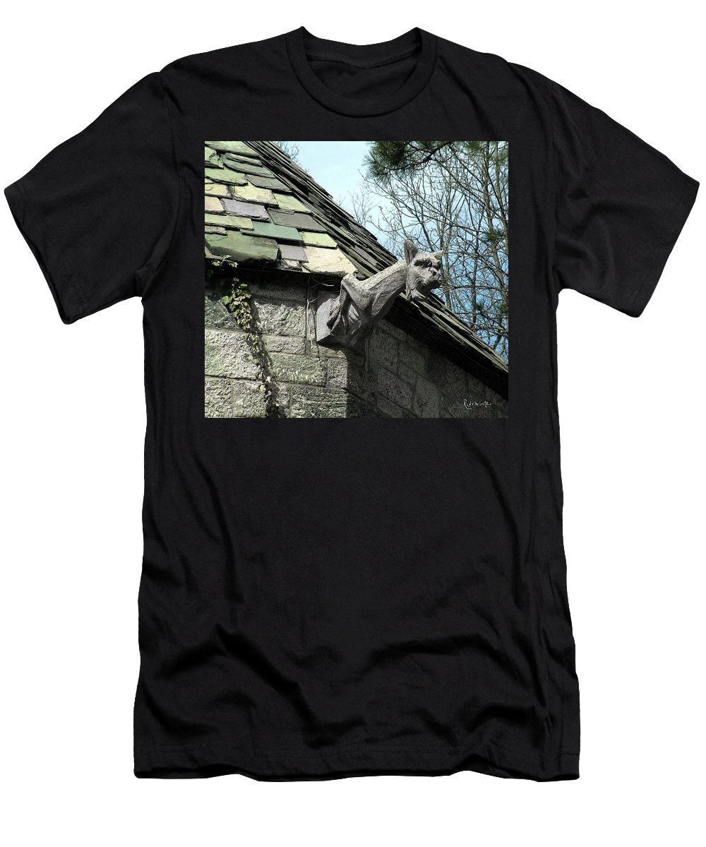 Architecture Men's T-Shirt (Athletic Fit) featuring the photograph American Gargoyle by RC DeWinter