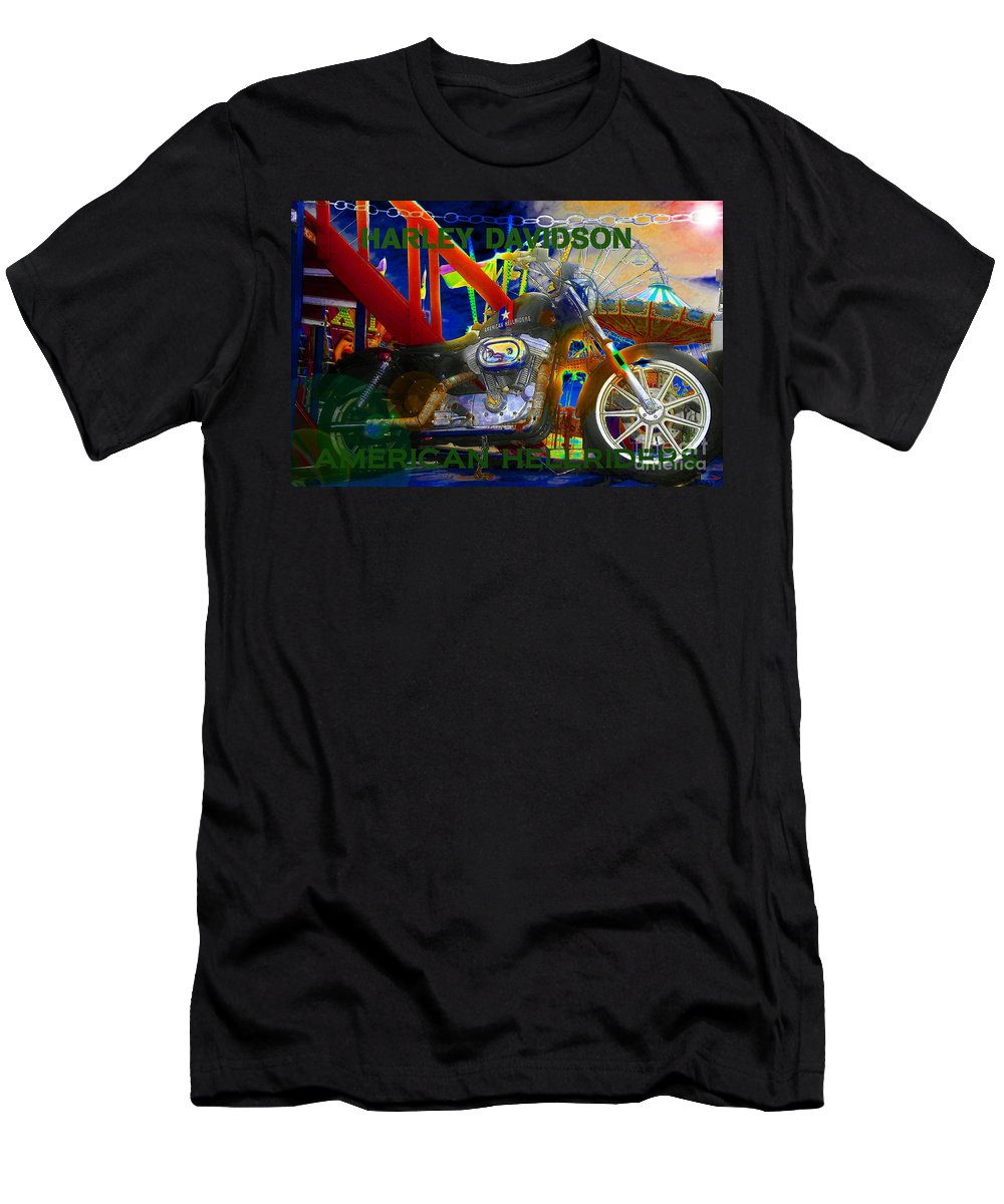 Art Men's T-Shirt (Athletic Fit) featuring the painting American Hellriders by David Lee Thompson