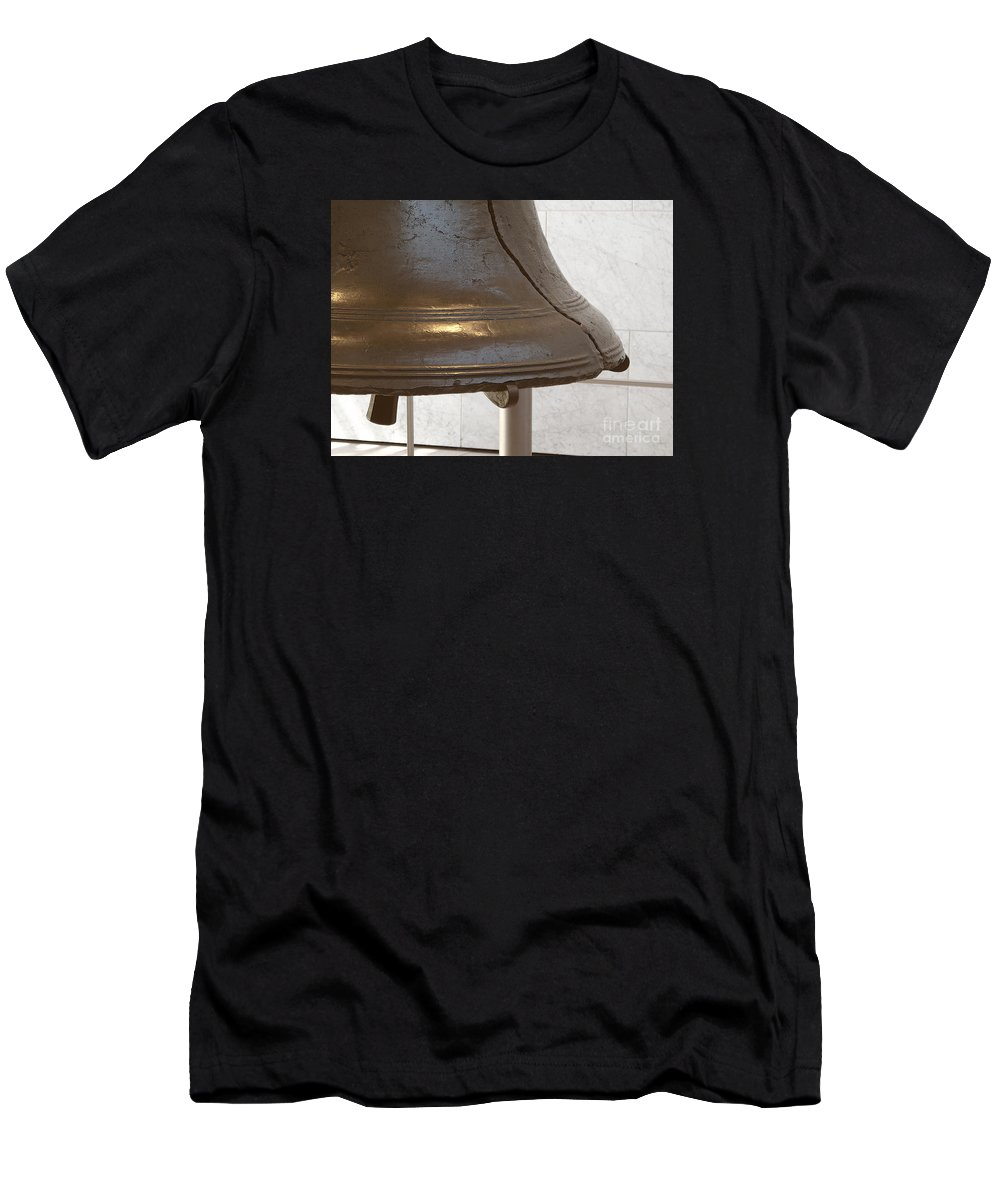 Liberty Bell Men's T-Shirt (Athletic Fit) featuring the photograph American Icon by Ann Horn