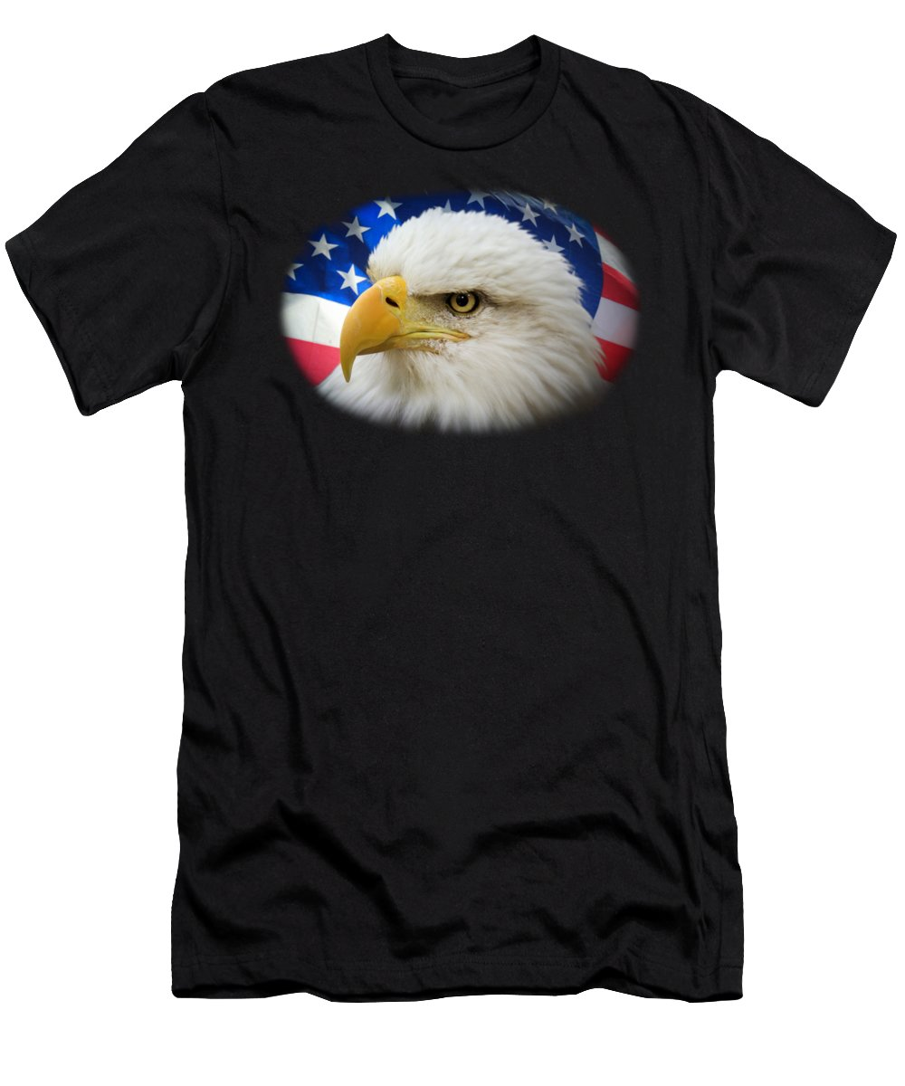 4th Of July Men's T-Shirt (Athletic Fit) featuring the photograph American Pride by Shane Bechler
