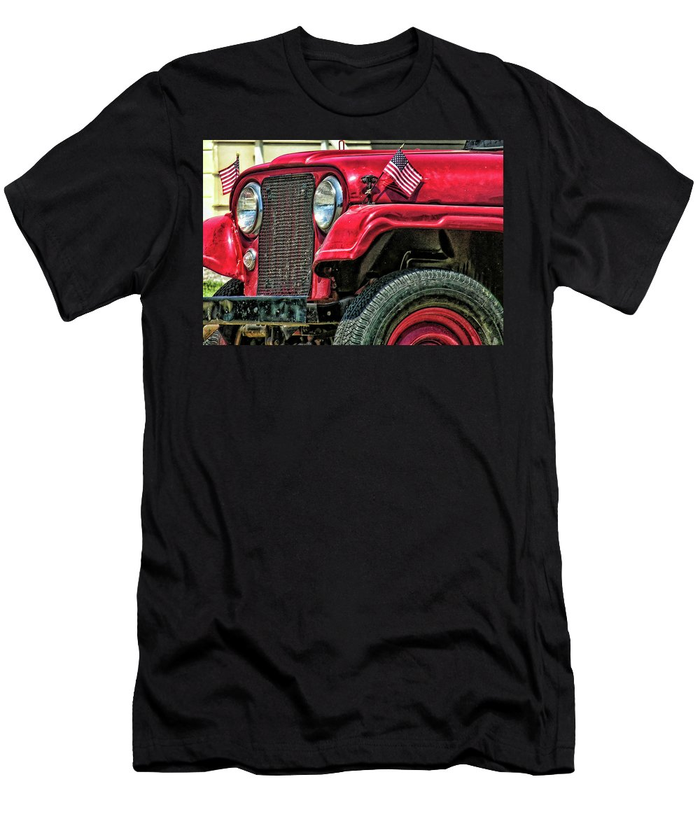 Jeep Men's T-Shirt (Athletic Fit) featuring the photograph American Willys by Adam Vance