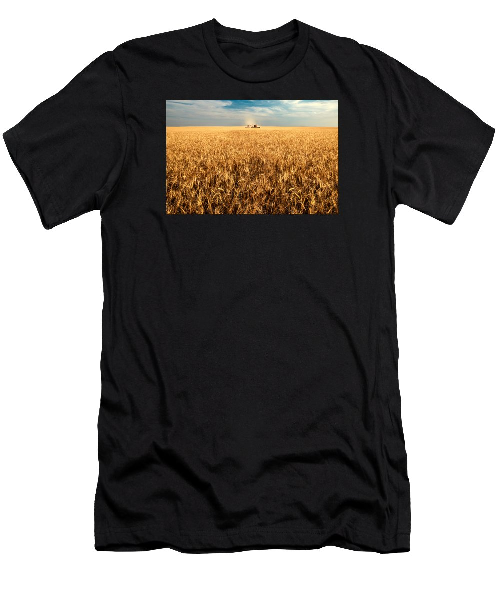 Two Men's T-Shirt (Athletic Fit) featuring the photograph America's Breadbasket by Todd Klassy